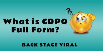 CDPO Full Form