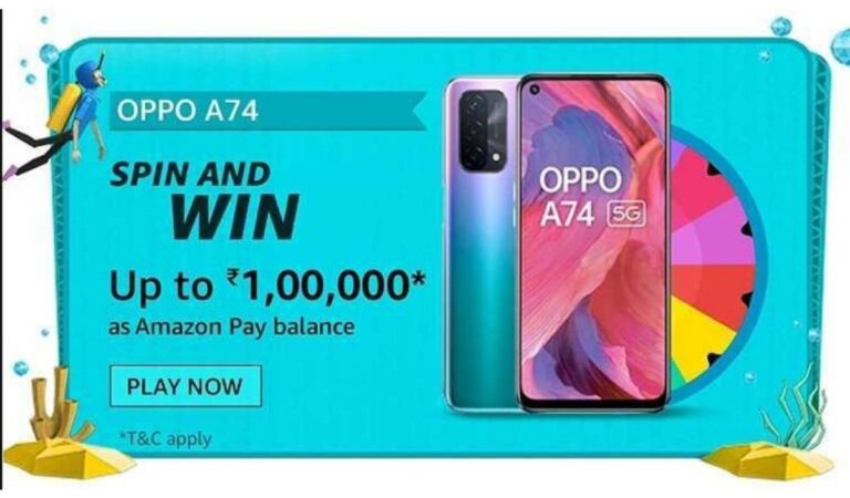 Which of the following is true about OPPO A74 5G – Amazon Quiz