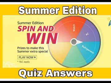 Amazon Summer edition Spin & Win Quiz