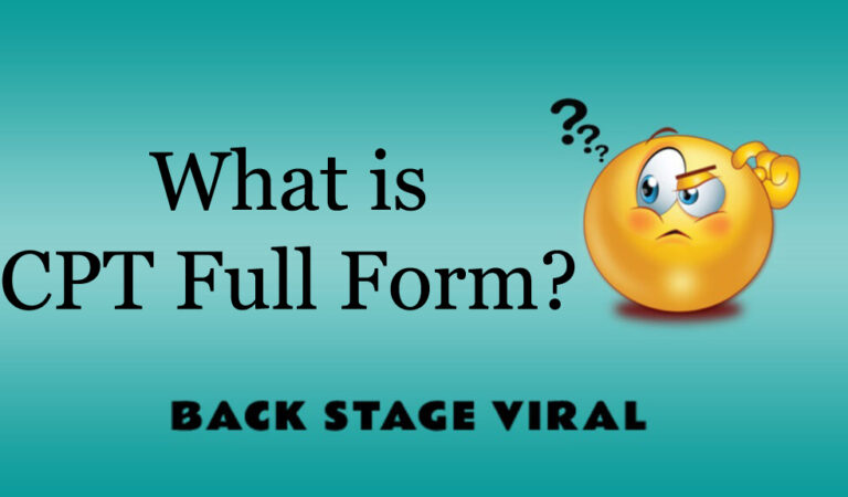 CPT Full Form – What is CPT Full Form?
