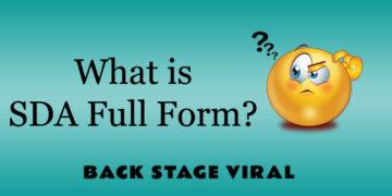 SDA Full Form